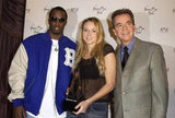 Diddy, Jewel, and Dick Clark attended the American Music Awards nominations in November 2001.