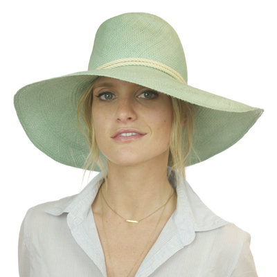 Add a bit of drama to your beachy attire with this woven, mint-hued hat. We're loving the subtle white braided rope detail for a sweet, unexpected color contrast, too. Eugenia Kim Cassidy Hat in Mint ($300)