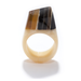 This ring is unique as it is eye catching — no two of these handcrafted horn rings are the same. Each purchase benefits the Haitian artisans who survived the earthquake. 