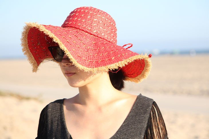 Inject a pop of coral color into your wardrobe via this rough-around-the-edges hat. It has the same textured feel of Lanvin's floppy hat without the hefty price tag to match. Mikkat Market Paper Straw Floppy Hat ($12)