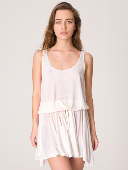 This casual, slouchy tank dress is super versatile — pair with strappy gladiator sandals and a crossbody bag for day, or wedge heels and dangly earrings for night. American Apparel Drawstring Tank Dress ($12)