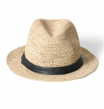 The masculine-inspired fedora is no longer just for the boys; this lightweight hat will fit right in with your countryside weekend getaways.  Theory Raffia Crochet Fedora ($90)
