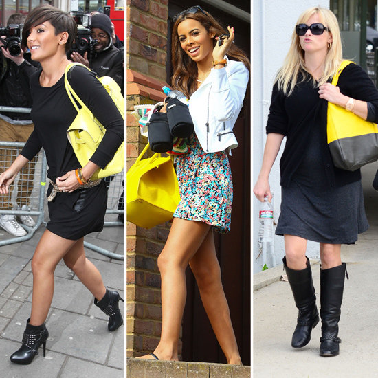 Reese Witherspoon and The Saturdays Rock Yellow Bag Trend