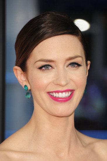Emily Blunt Wears Pink Lips and Winged Eyeliner in New York for The Five-Year Engagement Premiere