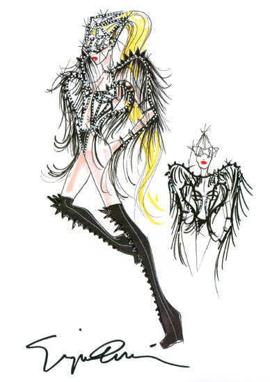 Lady Gaga Armani Tour Costumes