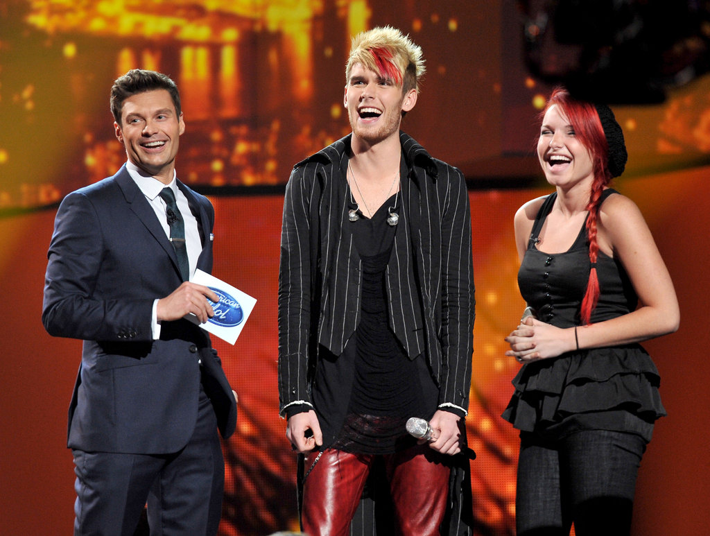 Ryan Seacrest joked with Colton Dixon before he put his spin on a Lady Gaga tune.
