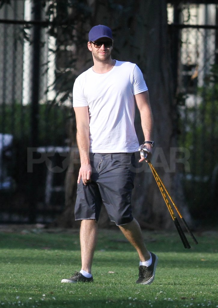 Liam Hemsworth hit the links in LA.