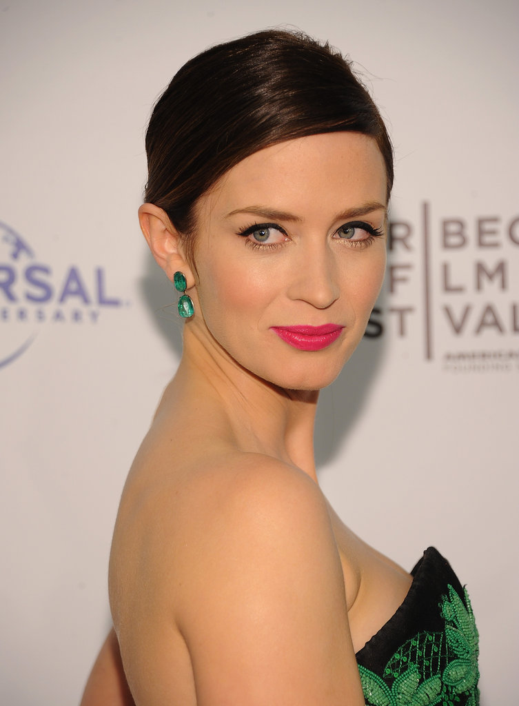 Emily Blunt flashed a pose at the Five-Year Engagement premiere during the 2012 Tribeca Film Festival.