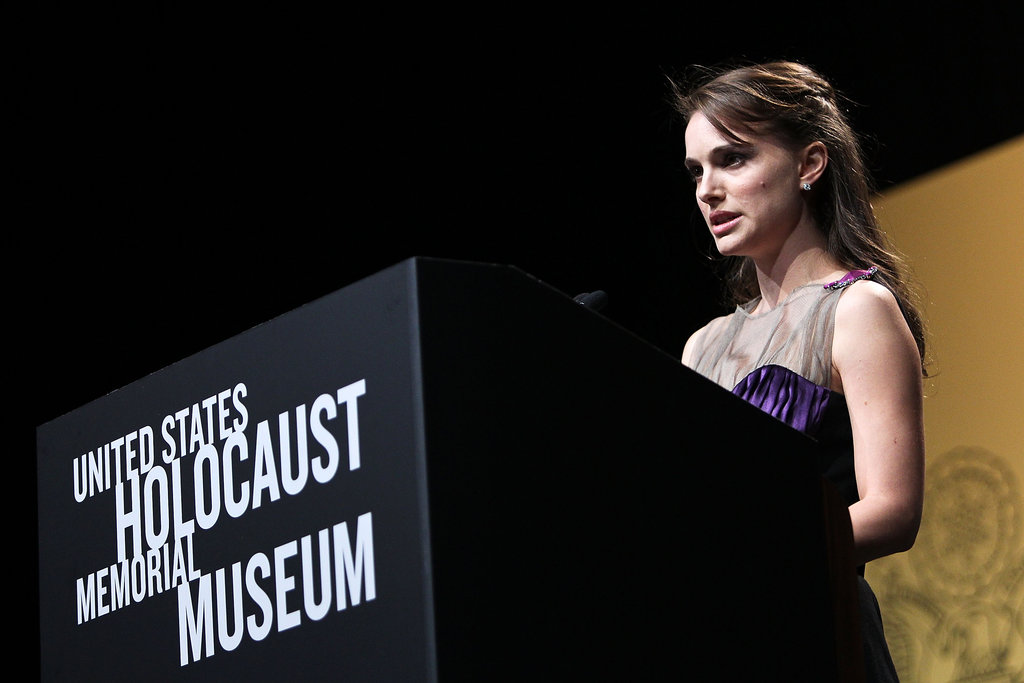 Natalie Portman addressed an audience in Washington DC.