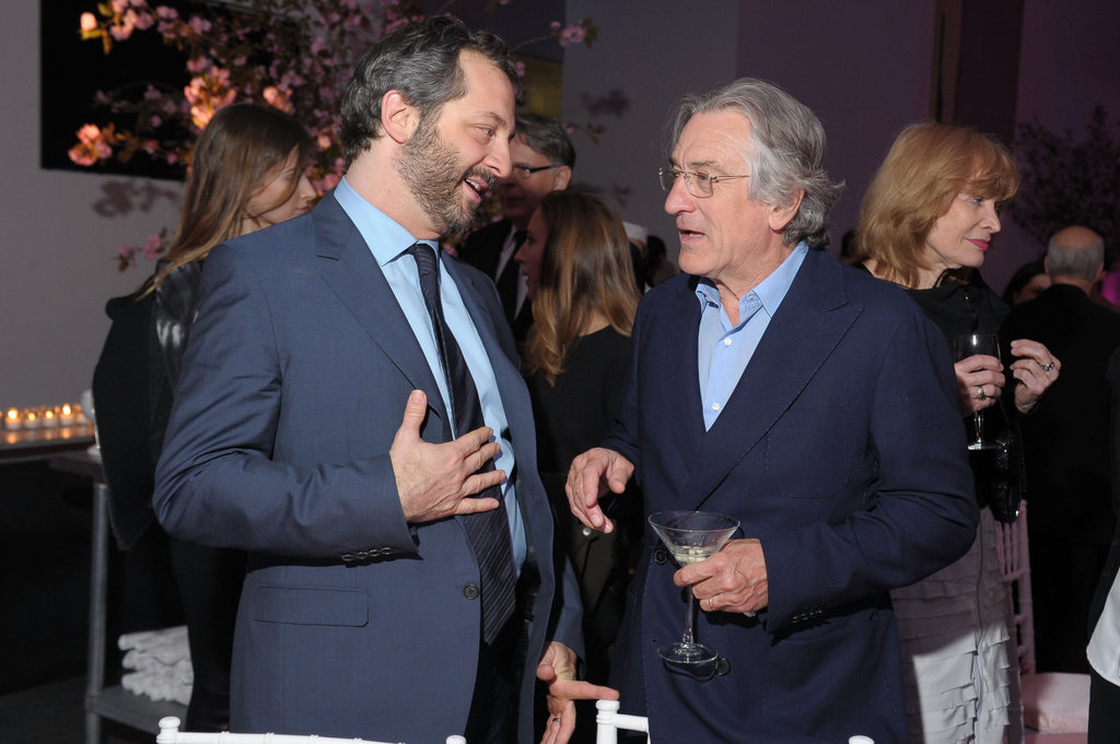 Judd Apatow chatted with Robert De Niro at the premiere party for The Five-Year Engagement.