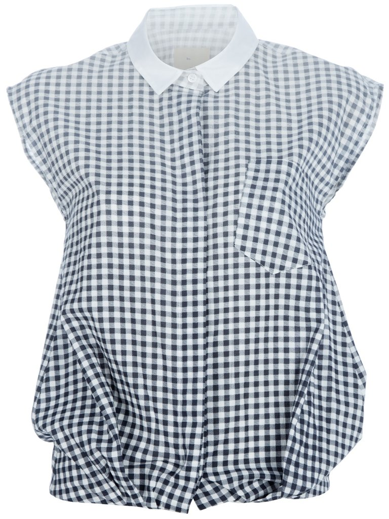 This cool iteration on gingham has a faded, ombre effect, but maintains the charming feel of the print with its cap-sleeved button-down fit — perfect for adding to high-waisted skinnies and platforms.  Boy. By Band Of Outsiders Gingham Blouse ($359)