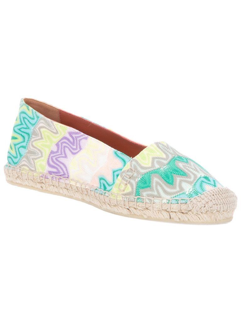 Missoni wins our hearts again with these pretty pastel sneakers.  Missoni Printed Espadrille ($309)