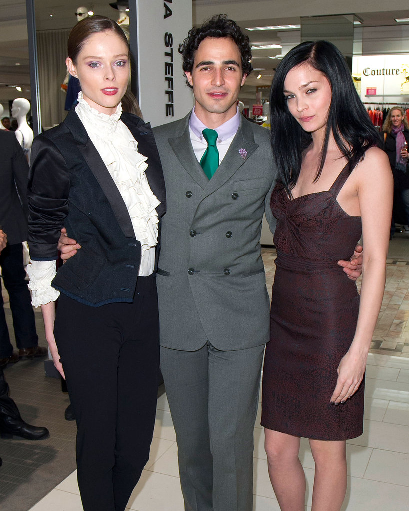 Zac posed with Leigh Lezark and Coco Rocha.