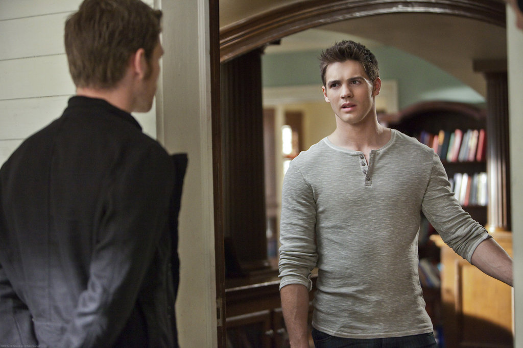Joseph Morgan as Klaus and Steven R. McQueen as Jeremy on The Vampire Diaries. Photo courtesy of The CW