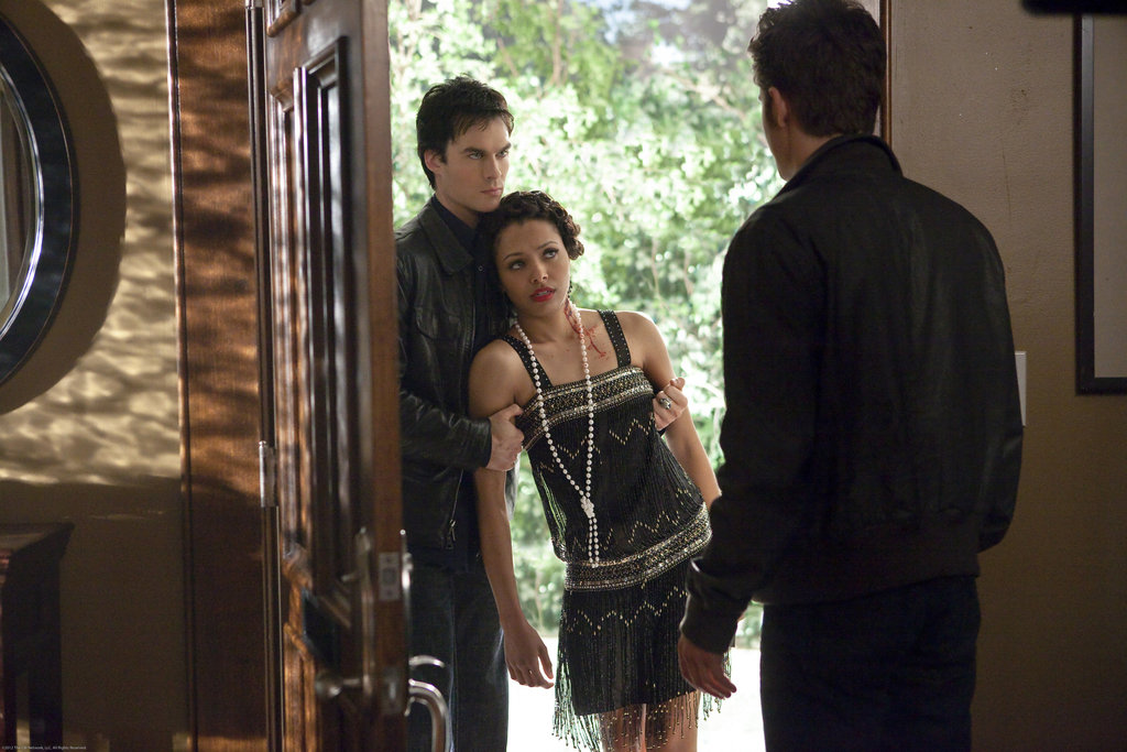 Ian Somerhalder as Damon, Kat Graham as Bonnie, and Paul Wesley as Stefan on The Vampire Diaries. Photo courtesy of The CW