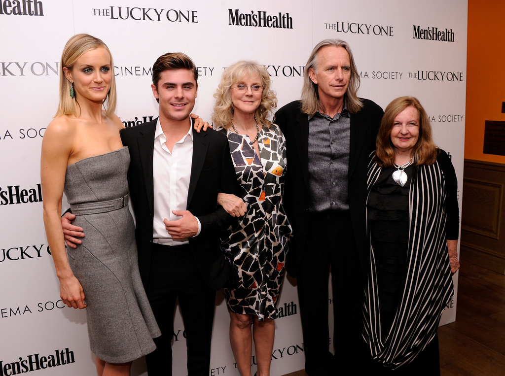 Taylor Schilling, Zac Efron, and Blythe Danner linked up with director Scott Hicks and producer Kerry Heysen at the Cinema Society and Men's Health screening of The Lucky One in NYC.