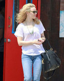 Rachel McAdams left the hair salon in LA.