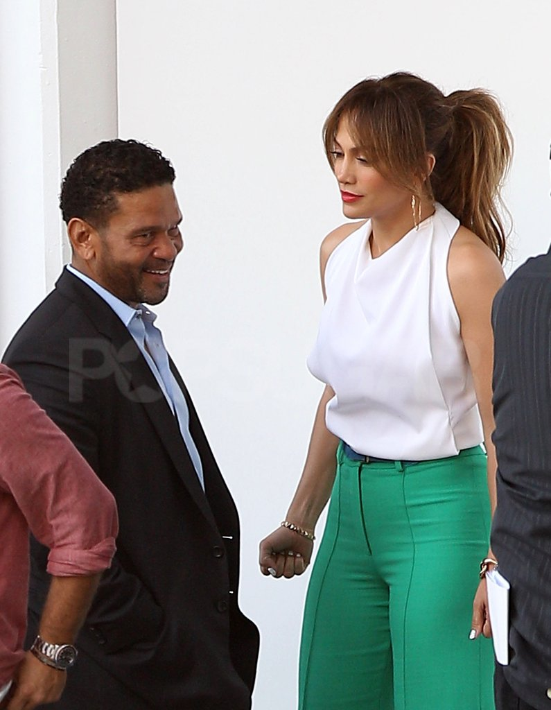 Benny Medina stopped by to chat with Jennifer Lopez.