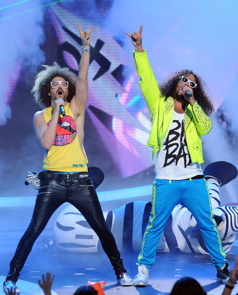 LMFAO performed on Idol.