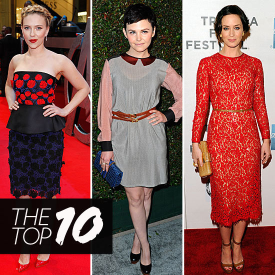 Fab's Top 10 Celebrity Looks of the Week — Scarlett, Emily, Ginnifer, and More!