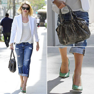 Ali Larter White Blazer April 2012