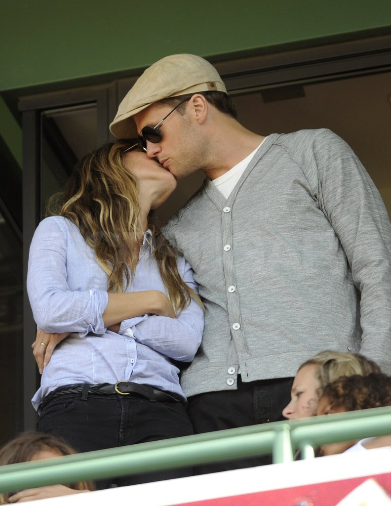 Tom Brady and Gisele Celebrate Fenway's 100th With Kisses in Boston