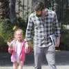 Ben Affleck and Violet Ballet Class Pictures