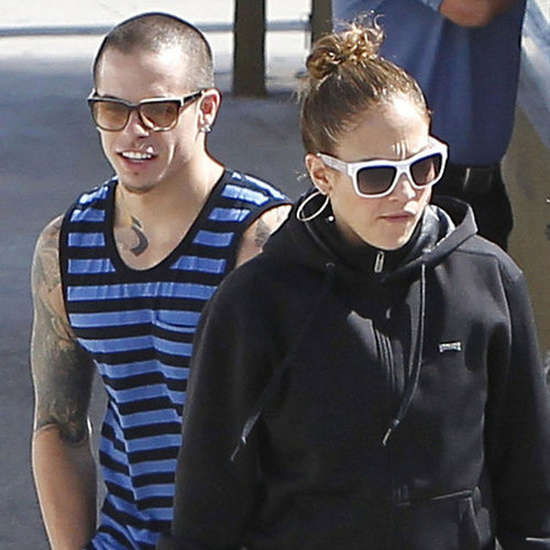 J Lo and Casper at Lunch in LA Pictures