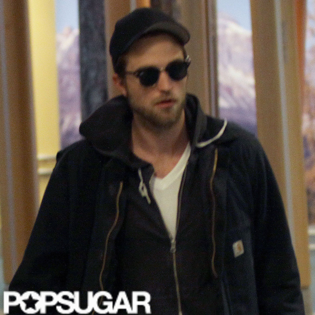 Robert Pattinson and Kristen Stewart Land in Vancouver For Breaking Dawn Reshoots