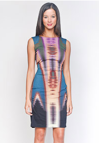 Nicole Miller Sleeveless Print Dress ($300)