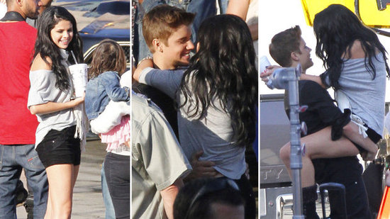 Video: Selena Gomez Pays Justin Bieber a PDA-Filled Visit