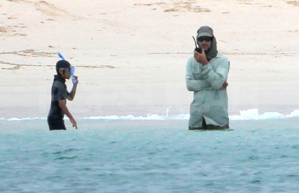 Pax Jolie-Pitt went snorkeling on their family trip.