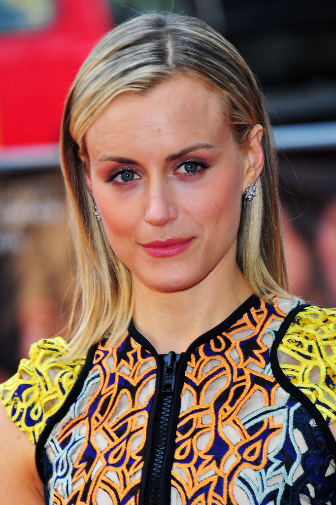 Taylor Schilling attended the European premiere of The Lucky One.