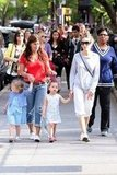 Mom Sarah Jessica Parker spent the day with her twins Loretta Broderick and Tabitha Broderick in NYC.