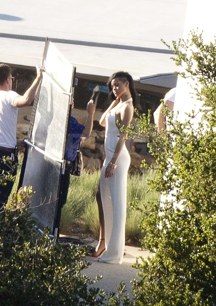 Rihanna looked glamourous a shoot for Harper's Bazaar in Malibu.