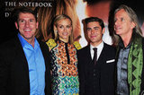 Zac Efron and Taylor Schilling linked up  with Scott Hicks and Nicholas Sparks at the premiere of The Lucky One in London.