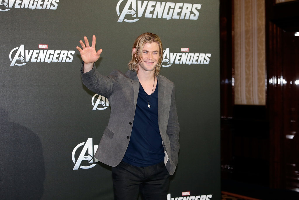 Chris Hemsworth waved.