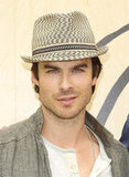 Ian Somerhalder arrived in Santa Monica to celebrate Earth Day at the Annenberg Beach House.