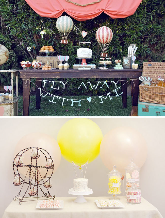 For a themed wedding, a simple phrase pairs well with unique, creative decor. Source: Jessica Claire via Green Wedding Shoes