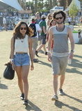 Cute couple alert! Zoe Kravitzs and Penn Badgley coordinated their off-duty looks.