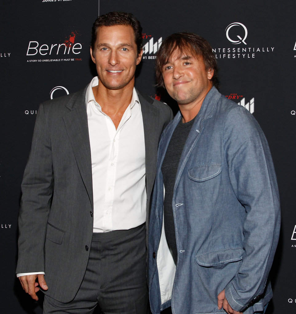Matthew McConaughey and director Richard Linklater smiled together at the New York premiere of Bernie.