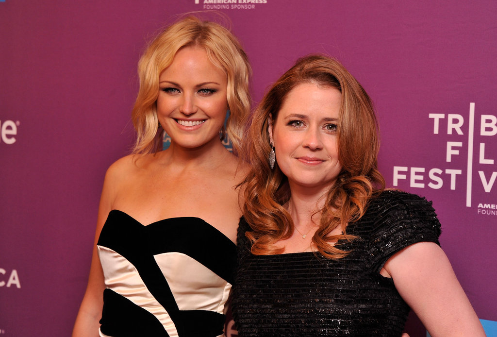 Jenna Fischer and Malin Akerman happily showed their support for their independent film, The Giant Mechanical Man.