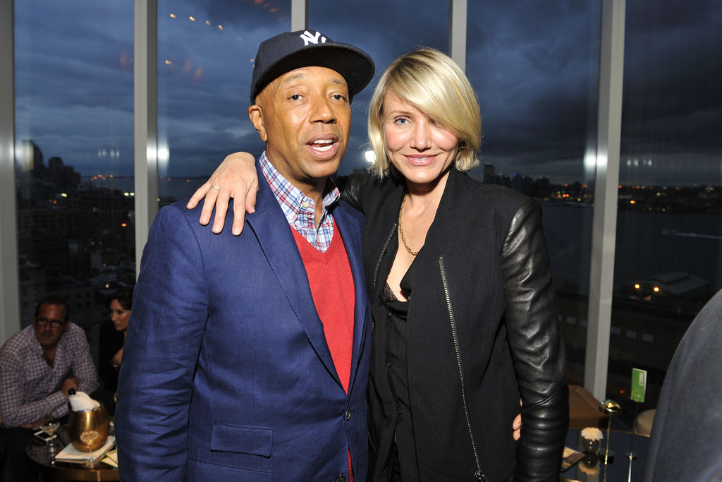 Cameron Diaz joined Russell Simmons at the NY Sun Works 4th Annual Greenhouse Project Benefit.