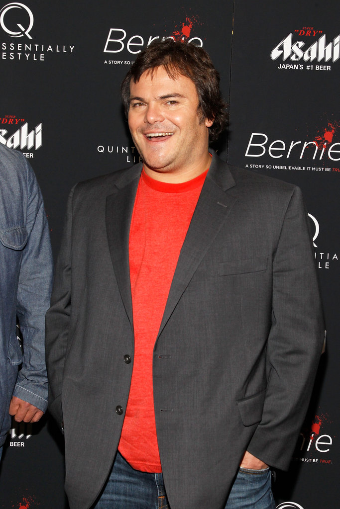 Jack Black smiled on the red carpet for the New York premiere of Bernie.