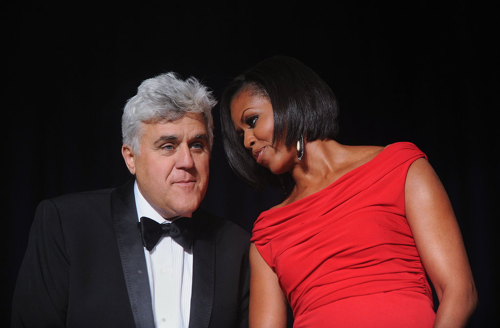 Michelle Obama and Jay Leno
