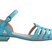 Wear the season's prettiest hues on your feet. This pastel blue sandal is an old school style with statement-making power.