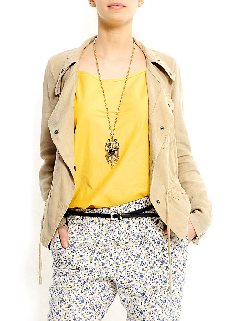 We love the loose, Summer-camp feel of this tan topper. Mango Lightweight Jacket ($50)