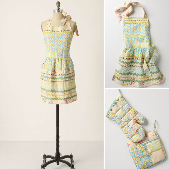 Anthropologie Matching Aprons and Oven Mitts ($12$38)