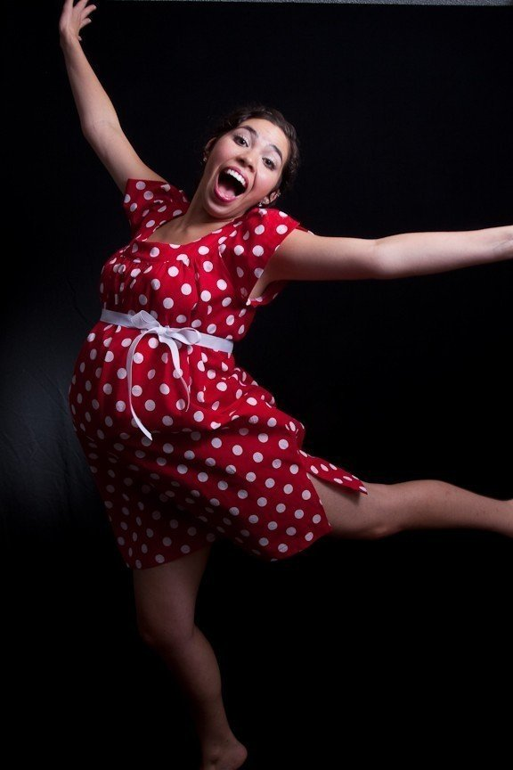 Polka Dot Delivery Gown ($65)
