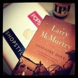 Susimay picked up Larry McMurtry's Lonesome Dove in Austin, TX.